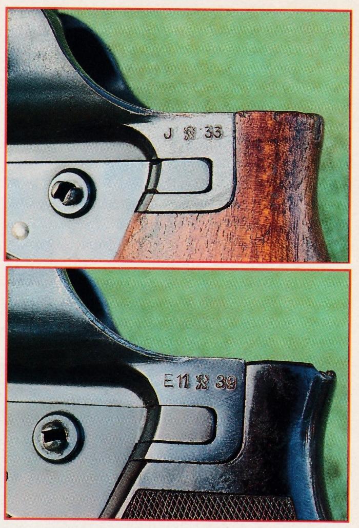 Les exemplaires examinés portent les numéros de série respectifs de 9680 pour le modèle du premier type daté de 1933 et 16103 pour le modèle du second type daté de 1939.